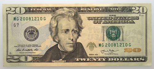 2013  $20 Federal Reserve Note#23 Birthday Number MG 20081210 G
