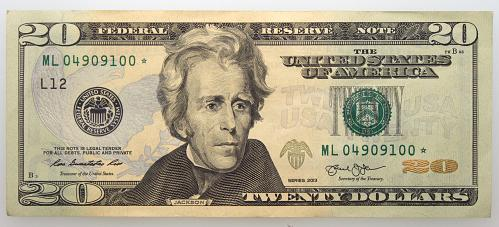 2009  $20 Federal Reserve Star Note#22 Uncirculated