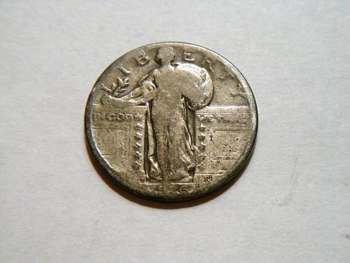 1926-D *Toned* Silver Standing Liberty Quarter