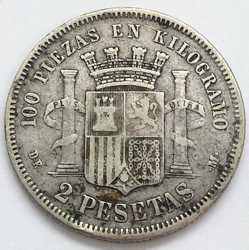 1870 2 Pesetas - Spain