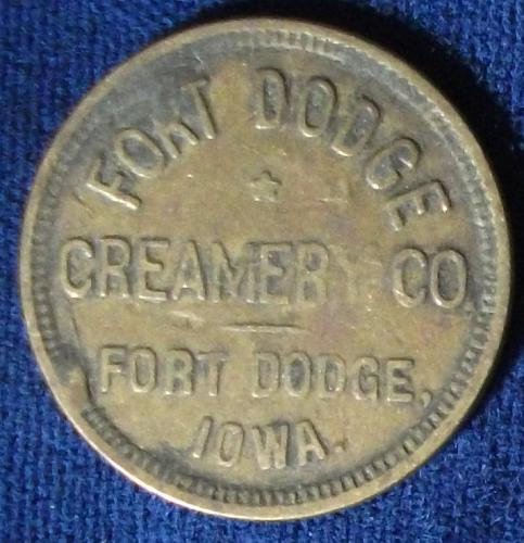 Ft. Dodge Creamery Co., Ft. Dodge, Iowa, Good for One Quart