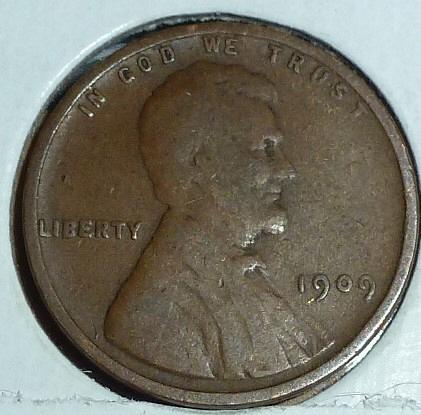 1909-P Fine Lincoln Wheat Cent ( A476)