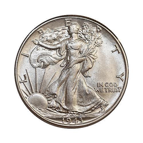 Superb - 1943 P Walking Liberty Half Dollar - Gem BU / MS / UNC - High Grade Coi