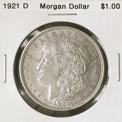 1921 D Morgan Dollar - 6 Photos!
