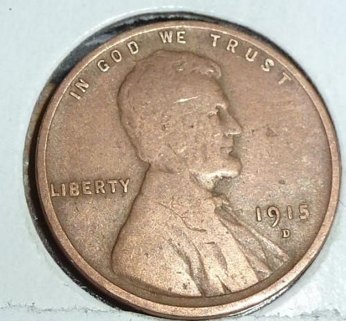 1915-D Very Good Lincoln Wheat Cent ( # C306)
