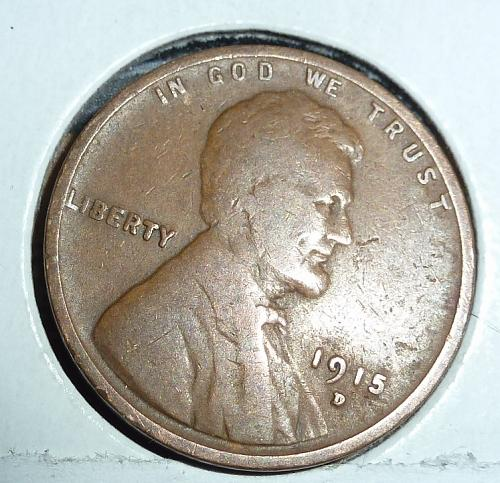 1915-D Very Good Lincoln Wheat Cent ( # D306)