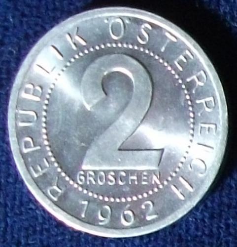 1962 Austria 2 Groschen UNC