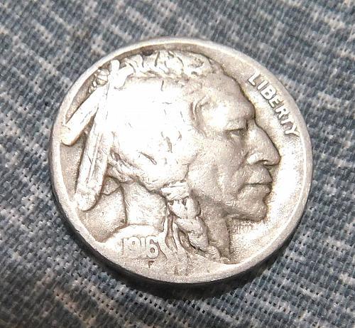 1916 S Buffalo/Indian Head Nickel