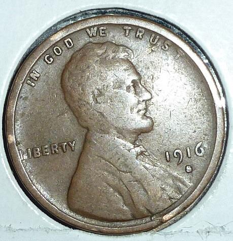 1916-S VERY FINE Lincoln Wheat Cent ( B-847 )