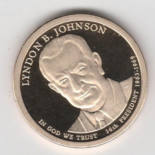 2015 S Proof Presidential Dollars: Lyndon B. Johnson - #2