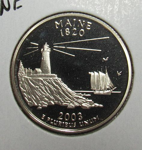 2003 S Proof Maine 50 States Quarter