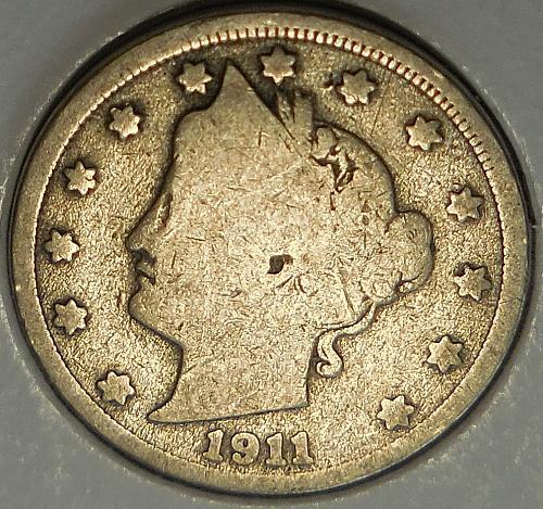 1911-P Liberty Head Nickel
