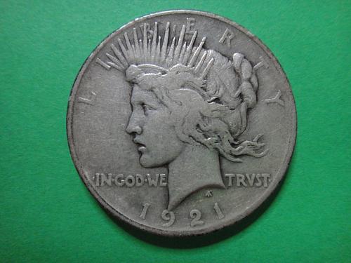 1921 Peace Dollar Fine-15 Nice Original Patina of the Original Design!