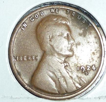 1924 S Very Fine Lincoln Wheat Cent (C575)