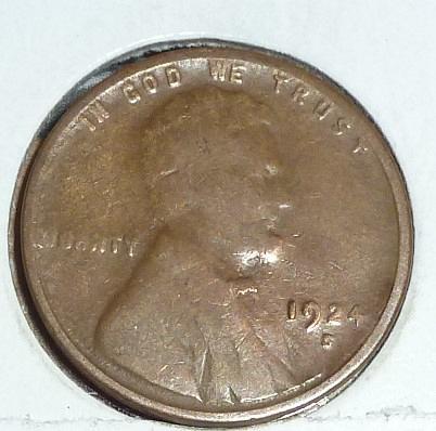 1924 S Very Fine Lincoln Wheat Cent (E575)