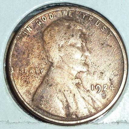 1924 S Very Fine Lincoln Wheat Cent (F575)