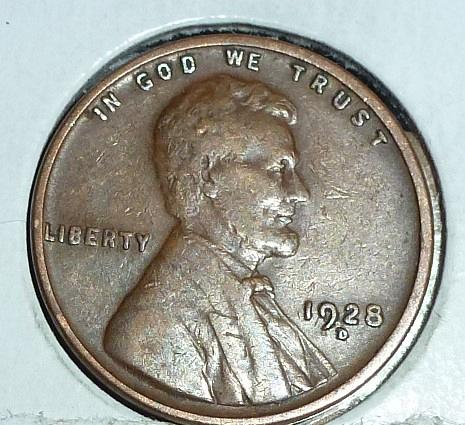 1928-D Very Fine Lincoln Wheat Cent (C306 )
