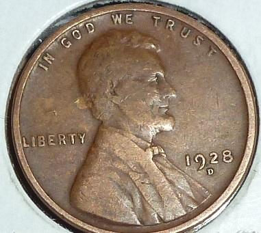 1928-D Very Fine Lincoln Wheat Cent (D-306 )