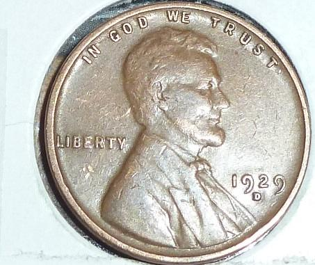 1929-D VERY FINE Lincoln Wheat Cent ( A236 )