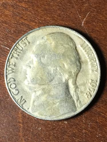 1954 S Jefferson Nickel Item 0419066