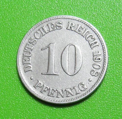 1908-D Germany 10 Pfennig