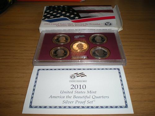 2010-S SILVER 5 Piece Quarter Proof Set