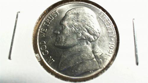 1991-D Jefferson Nickel
