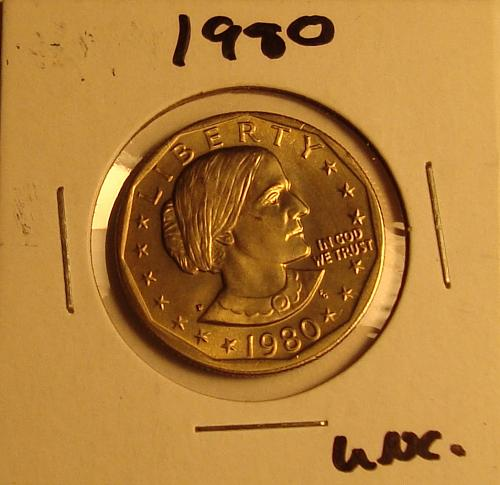 1980 P Susan B Anthony Dollar BU
