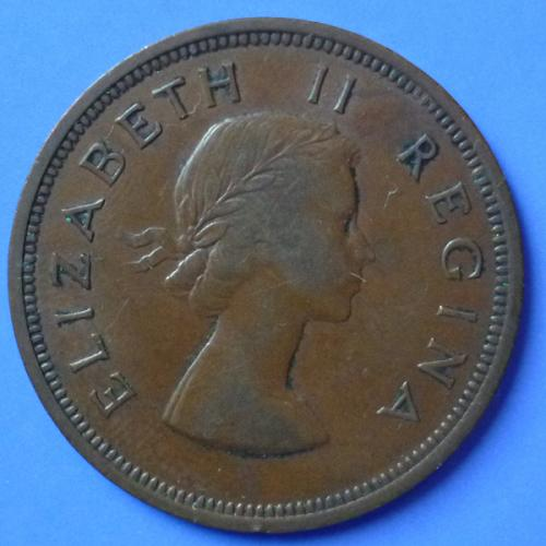 South Africa Suid Afrika 1 Penny 1957 km 46