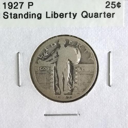 1927 P Standing Liberty Quarter Dollar - 6 Photos!