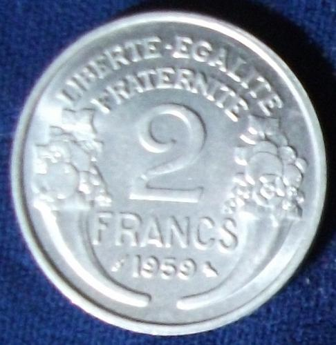 1959 France 2 Francs AU