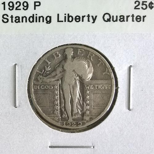 1929 P Standing Liberty Quarter Dollar - 6 Photos!