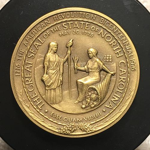 1776-1976 State of North Carolina American Revolution Bronze Bicentennial Medal