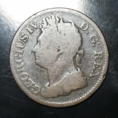 1822 Hibernia Penny Featuring King George IV