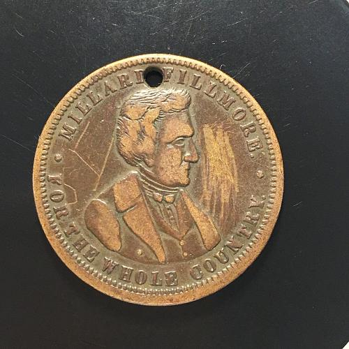 1856 Whig Party Candidate Millard Fillmore Campaign Medal