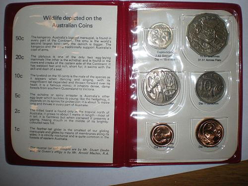 1981 Australian Mint Set- Wildlife Coins
