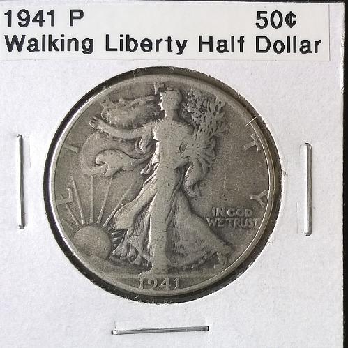 1941 P Walking Liberty Half Dollar - 6 Photos!