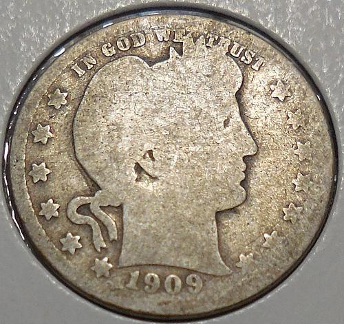 Barber Quarter 1909-P