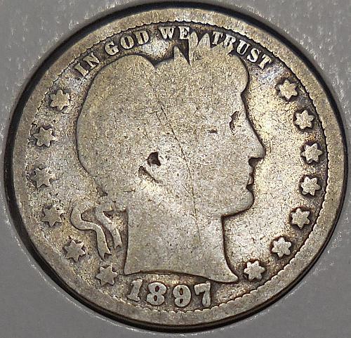 Barber Quarter 1897-P