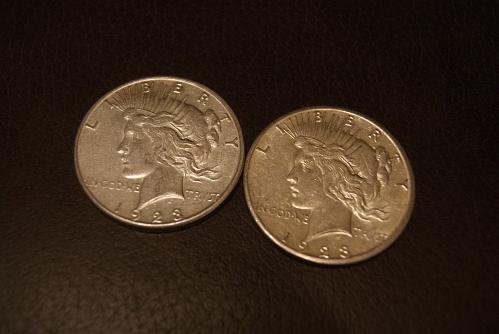 1923 S Peace Dollars