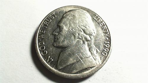 1990-P Jefferson Nickel