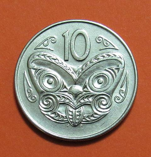 1970 New Zealand 10 Cents