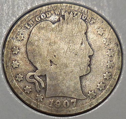 Barber Quarter 1907-P