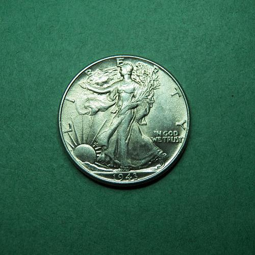 1943 P Walking Liberty Half Dollar XF Coin   t62