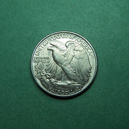 1943 P Walking Liberty Half Dollar AU Coin   t63