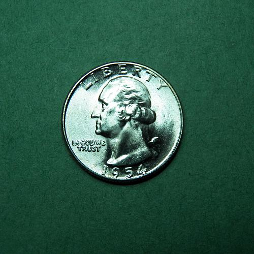 1954 P Washington Quarter BU Coin   t03