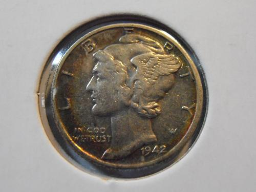1942 D Mercury Silver Dime, Better Grade Coin (42DM1)