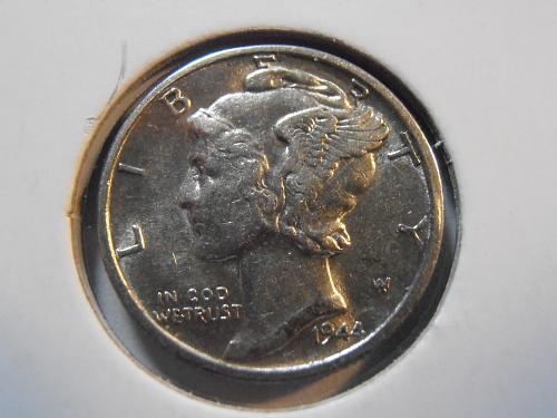 1944 D Mercury Silver Dime, Beautiful Coin (44DM1)