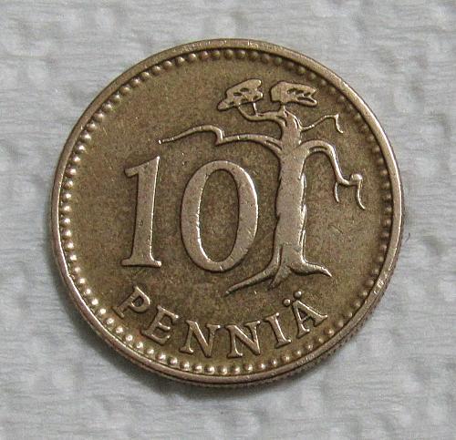 1963 Finland 10 Pennia