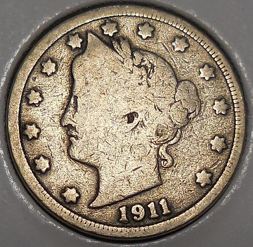 1911-P Liberty Head Nickel